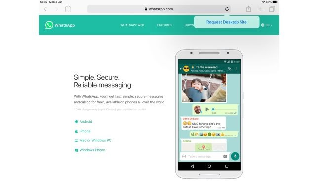 How to use WhatsApp web on a tablet and  iPad or Android 2020