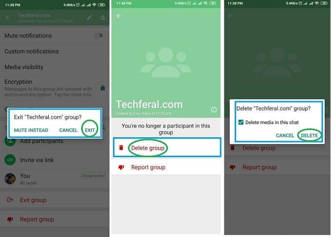 How to Delete WhatsApp Group as an Admin