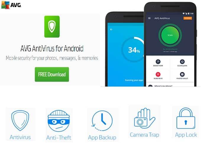 Top 7 Best Antivirus Apps for Android in 2020: AVG Free Antivirus