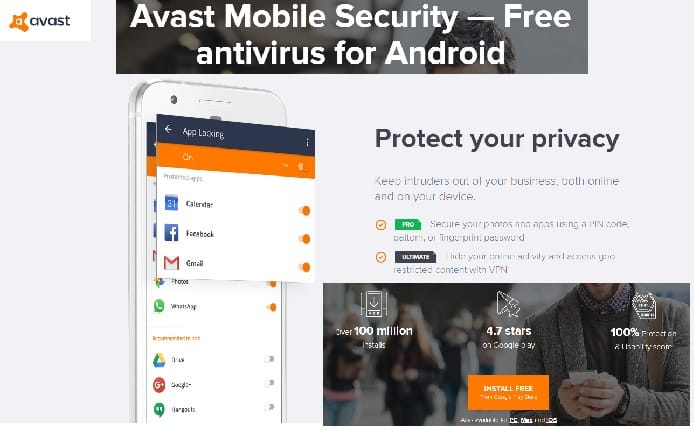 Top 7 Best Antivirus Apps for Android in 2020:Avast Mobile Security