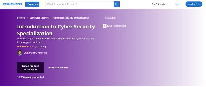 Best cybersecurity courses online for free: Coursera