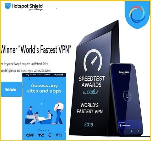 Top 10 Best Unlimited Free VPNs Apps for Android Phone in 2020: Hotspot Shield FREE VPN