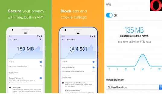 Top 10 Best Unlimited Free VPNs Apps for Android Phone in 2020: Opera FREE VPN