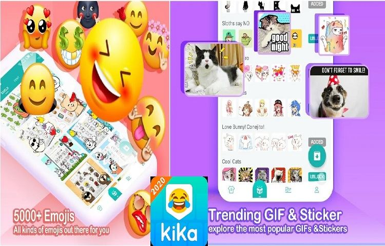 Top 10 Best Free Emoji Apps For Android Users: Kika Keyboard 2020