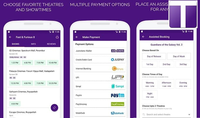 Top 7 Best Apps for Booking Movie Tickets Online: Justickets App
