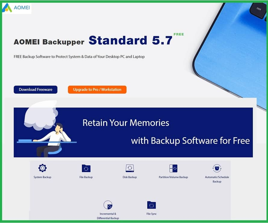 Free Backup Software You Need to Protect Your Important Data AOMEI Backupper freeware