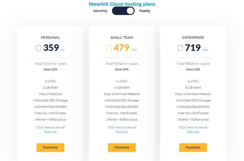 MewniX Cloud Hosting Plan: Best Affordable Hosting