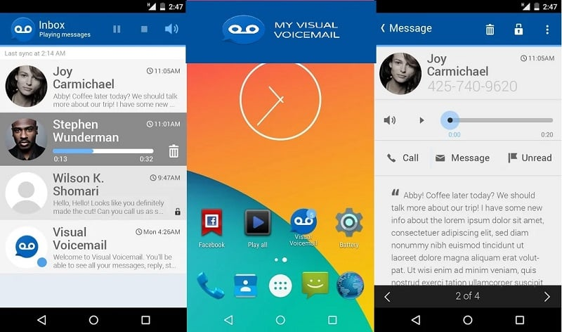 7 Best Visual Voicemail Apps for Android & iOS: My Visual Voicemail