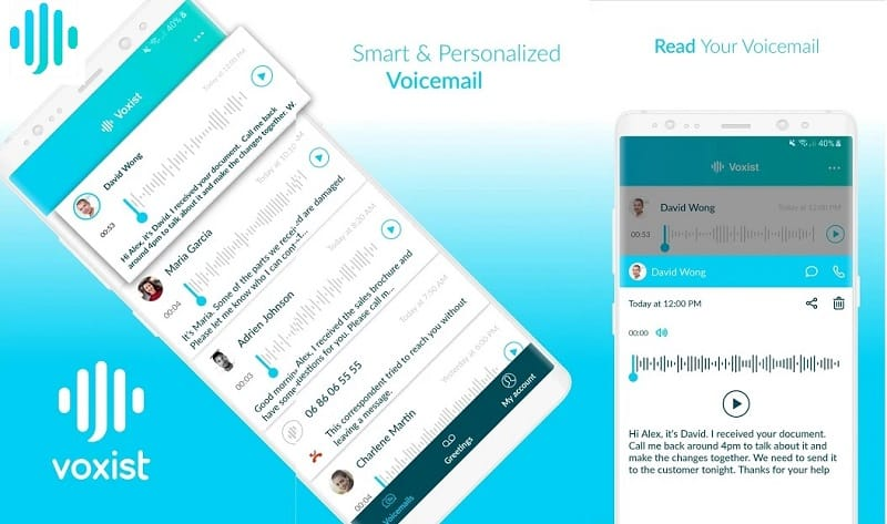 7 Best Visual Voicemail Apps for Android & iOS Voxist: : Visual voicemail you can read