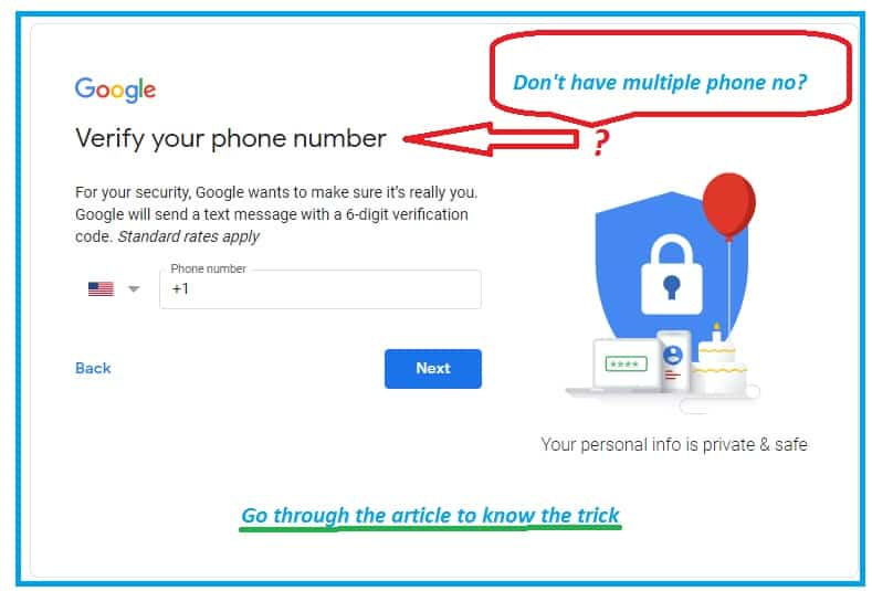 Create Gmail Account without Phone Number Verification!