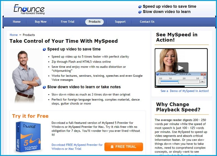 Enounce MySpeed: The Ad Skipper