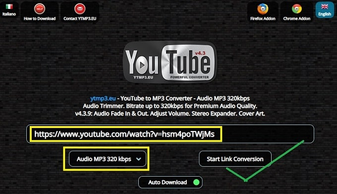 Best YouTube to MP3 online converter for free: Ytmp3.eu